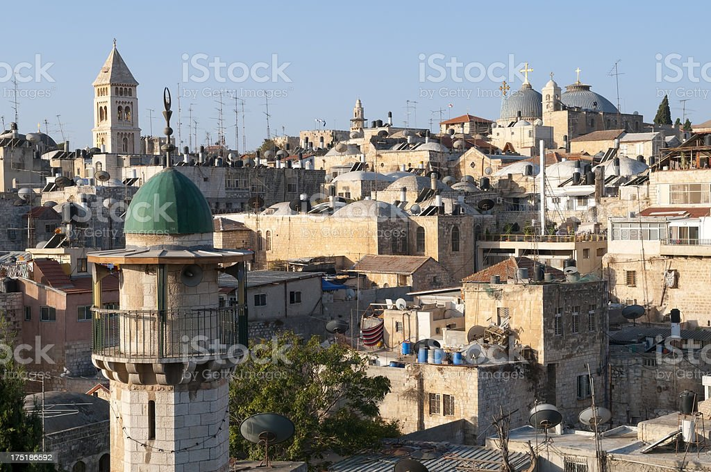 Religion in Old City Jerusalem royalty-free stock photo