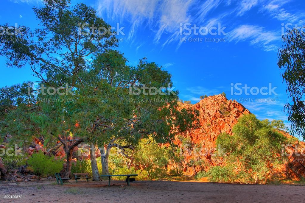 Jessie Gap, MacDonnell Ranges, Australia stock photo