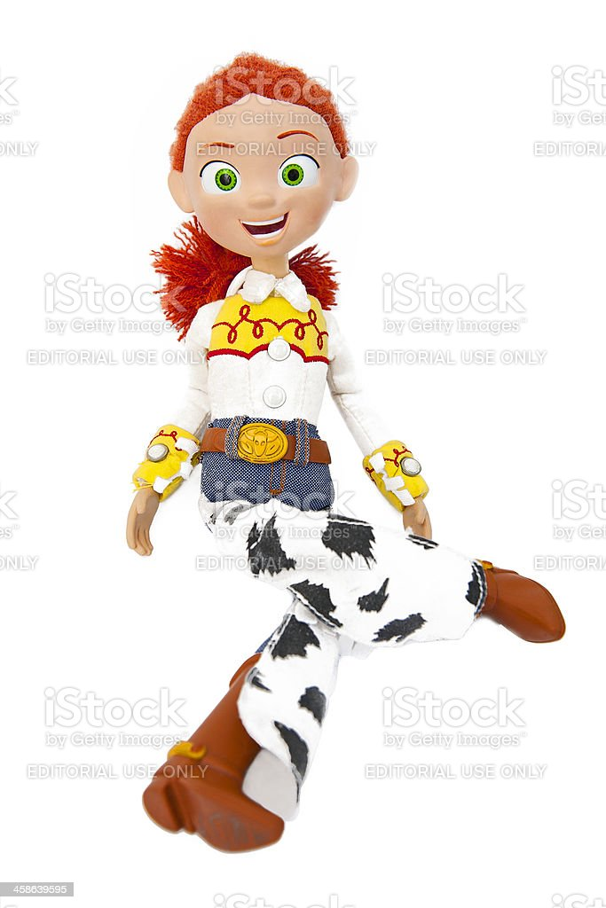 Jessie the Yodeling Cowgirl - Toy Story stock photo