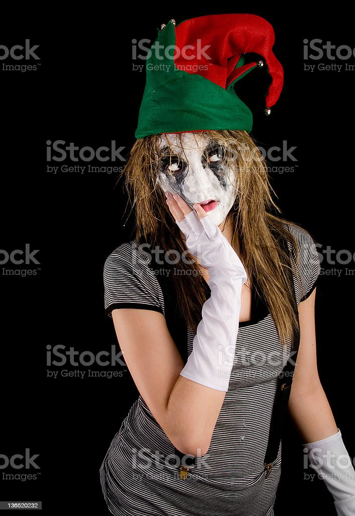 jester mime royalty-free stock photo