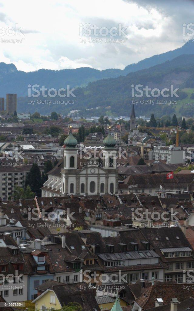 Jesuit church in Lucerne, Switzerland stock photo