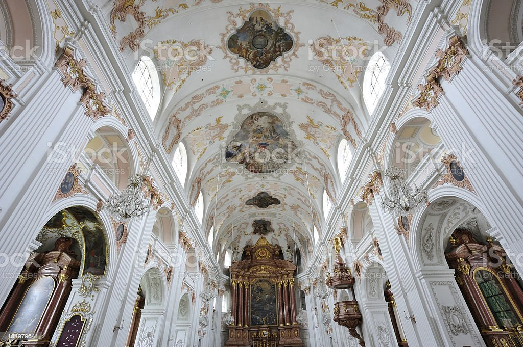 Jesuit Church in Luzern royalty-free stock photo