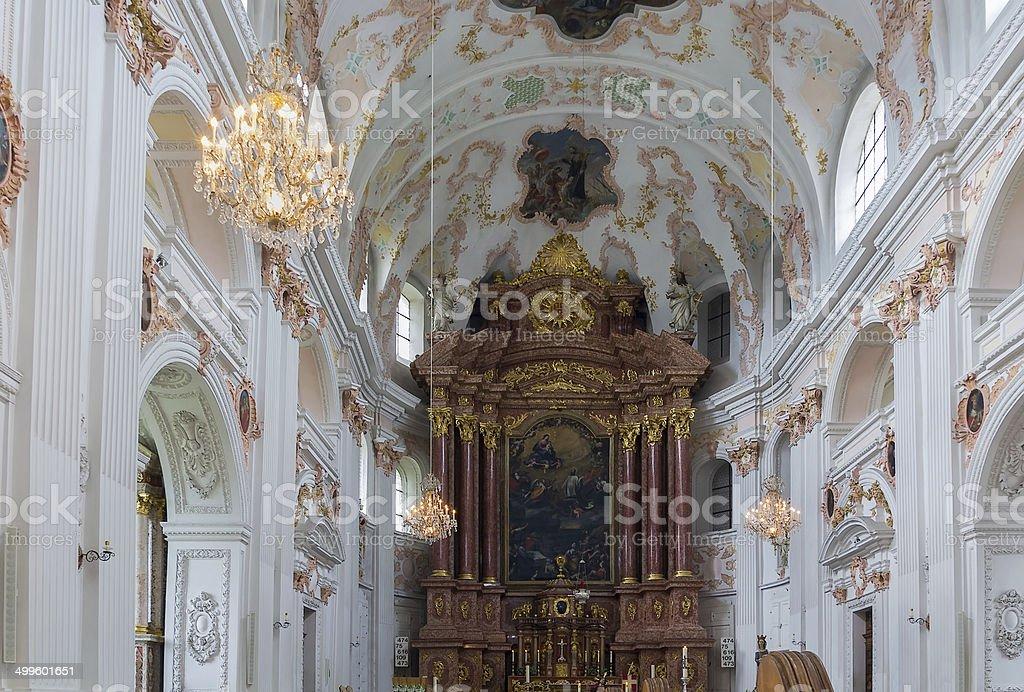 Jesuit Church, Lucerne stock photo
