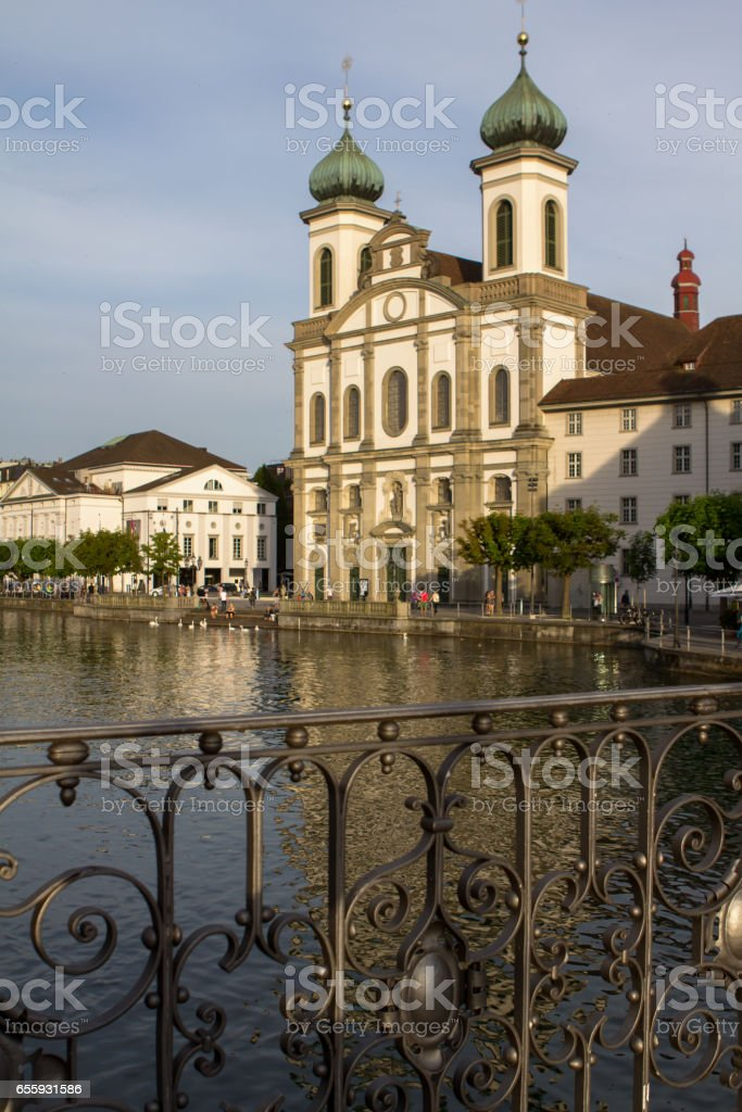 Jesuit Church, Lucerne, Switzerland stock photo