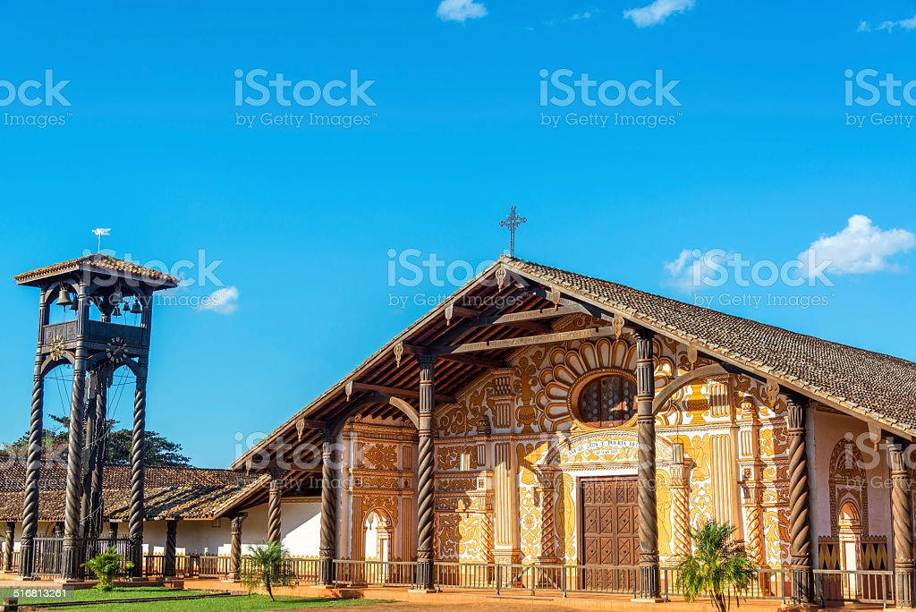 Jesuit Mission in Concepcion, Bolivia stock photo