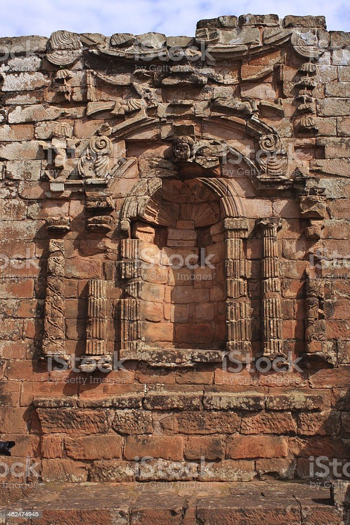 Jesuit mission Ruins in Trinidad, Paraguay stock photo