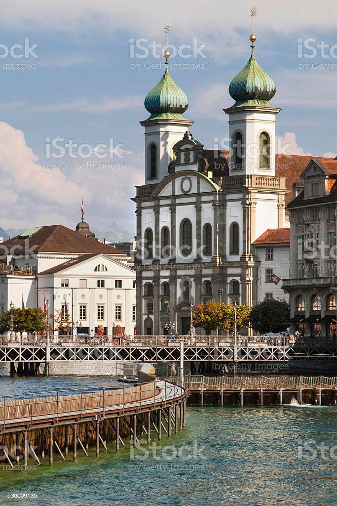 Jesuitenkirche stock photo