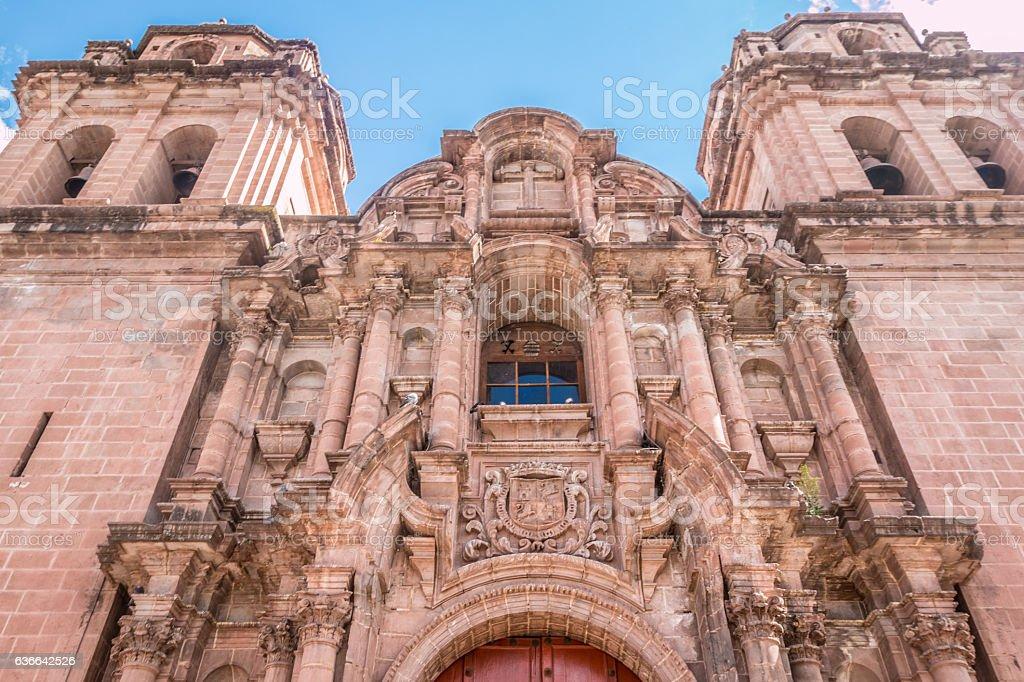 Jesuits church in Cusco Peru stock photo
