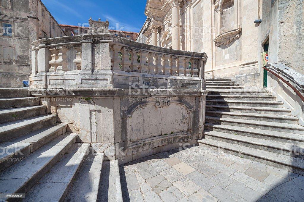 Jesuits staircase in Dubrovnik, Croatia. stock photo