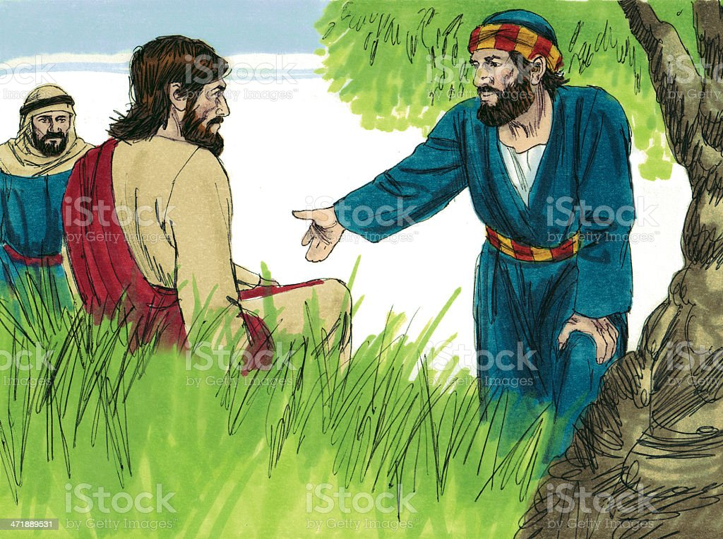 Jesus and Disciple royalty-free stock photo