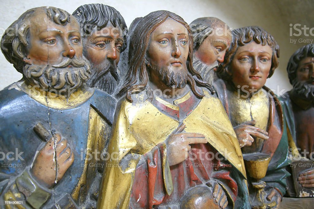 jesus and friends stock photo