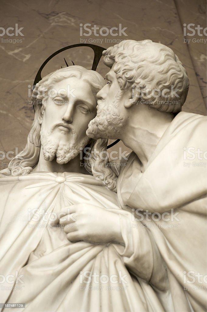 Jesus and Judas - The Betrayal stock photo