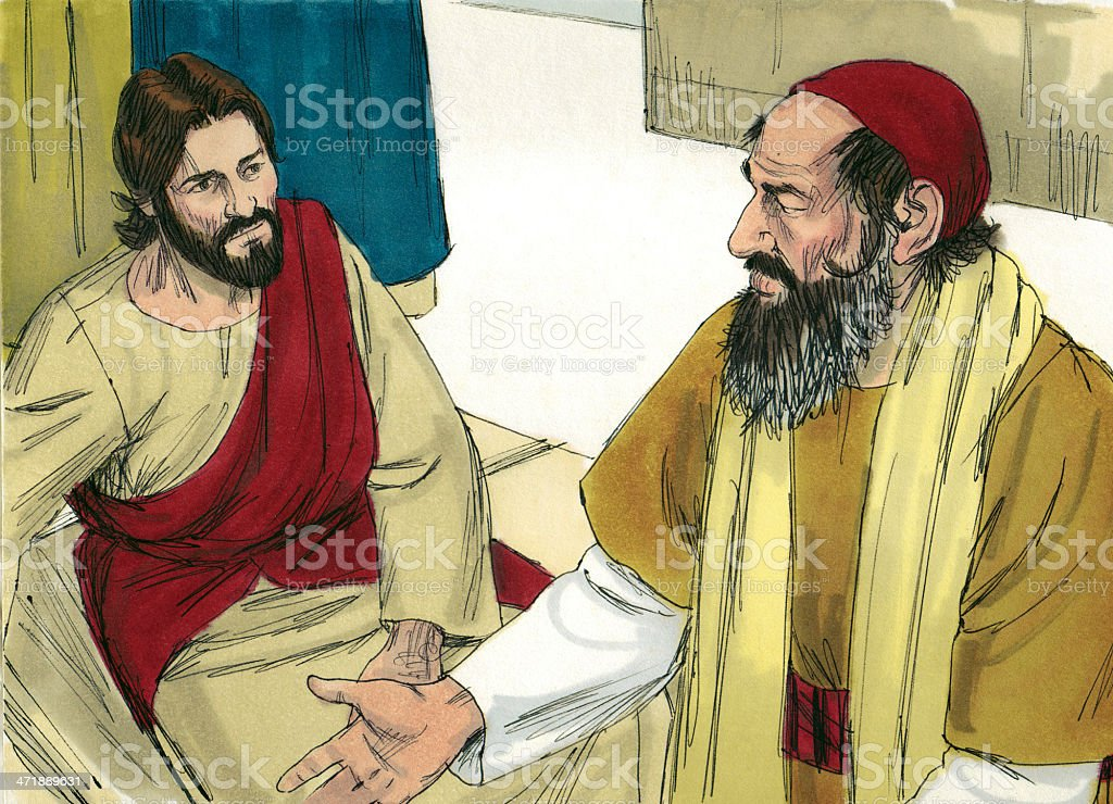 Jesus and the Scribe royalty-free stock photo