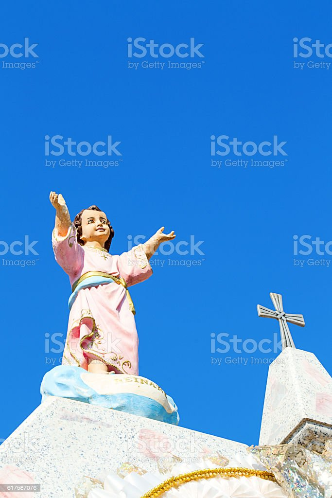 jesus arms wide open stock photo
