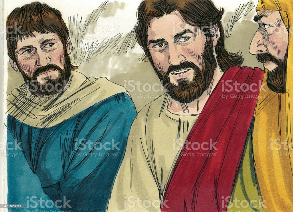 Jesus at the Last Supper royalty-free stock photo