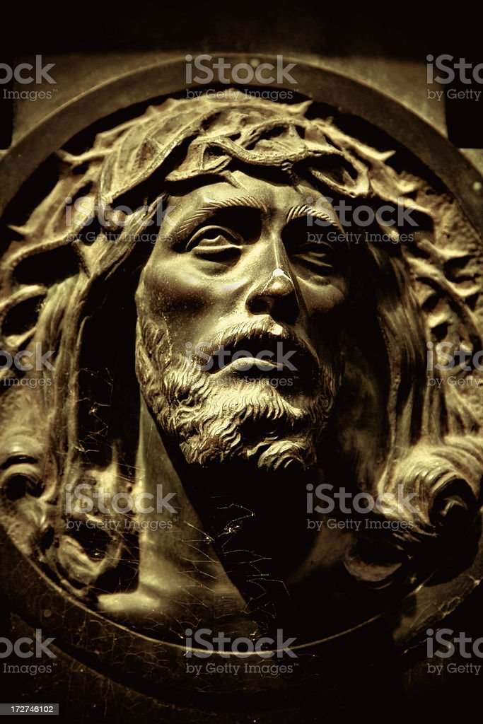 jesus bass-relief royalty-free stock photo