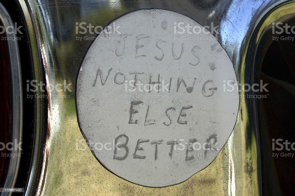 Jesus Bumper Sticker royalty-free stock photo