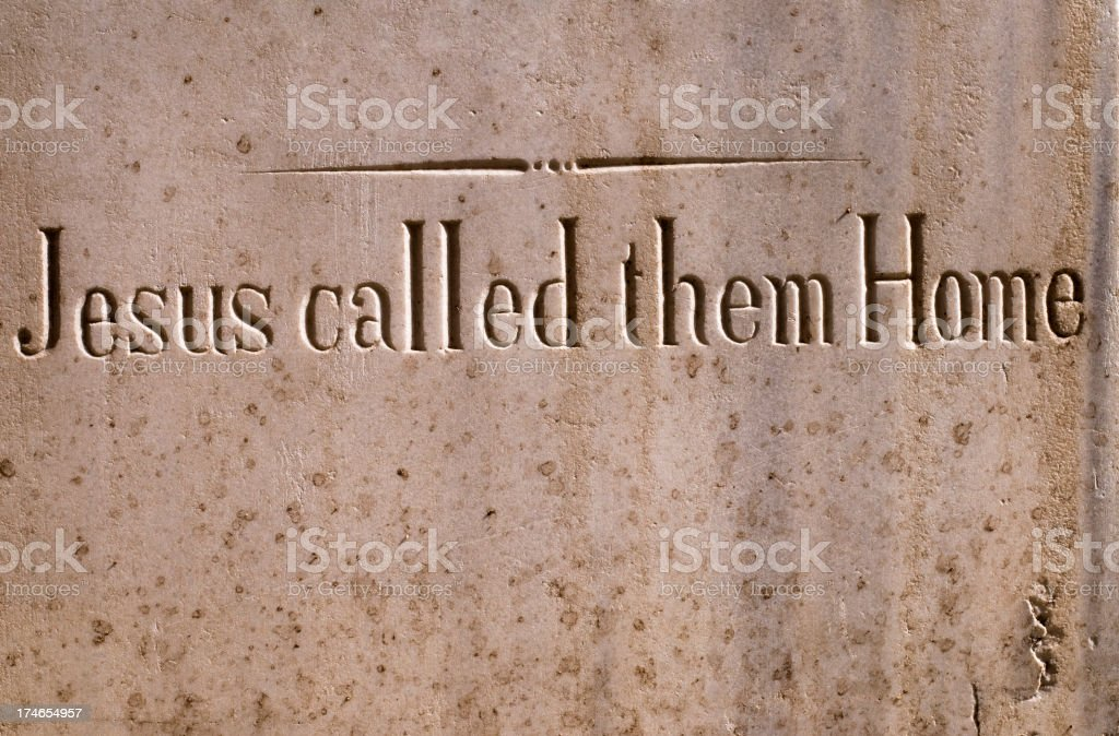 Jesus called them Home royalty-free stock photo