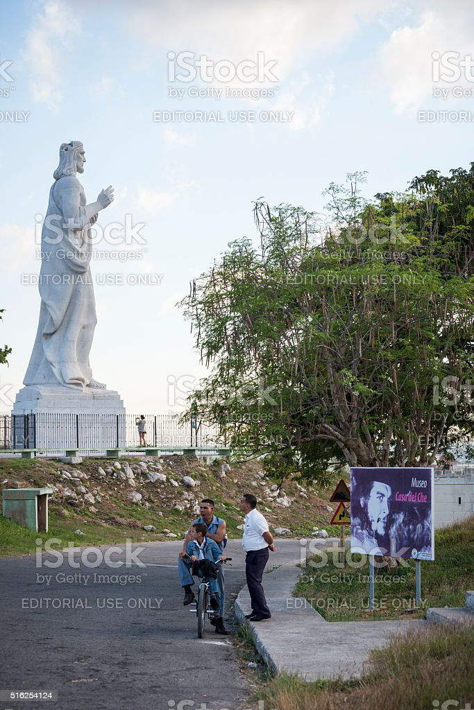 Jesus Christ and Che Guevara in Havana, Cuba stock photo