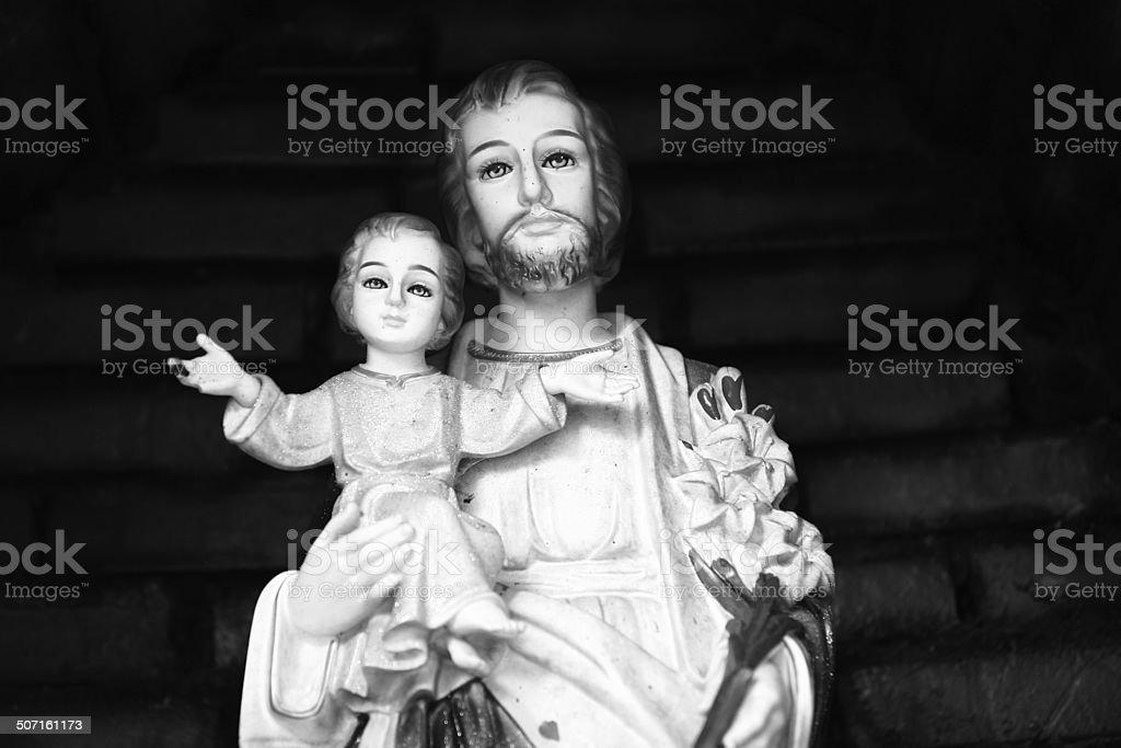 Jesus Christ and Saint Joseph statue royalty-free stock photo