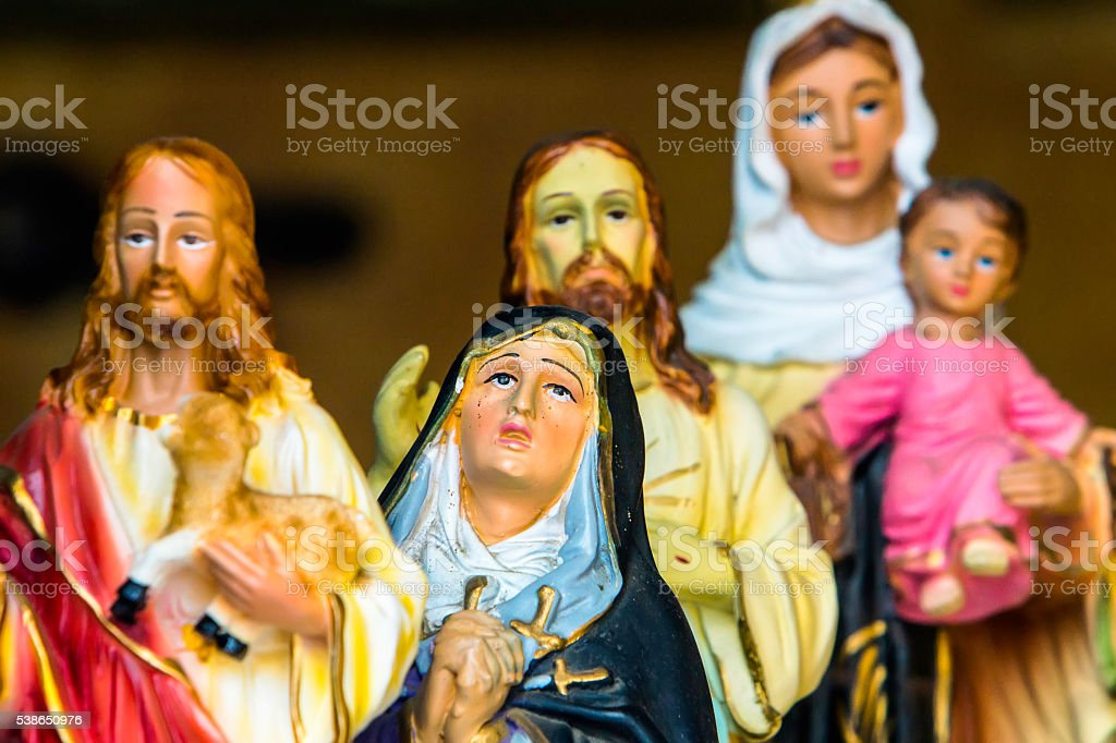 Jesus Christ and Virgin Mary stock photo