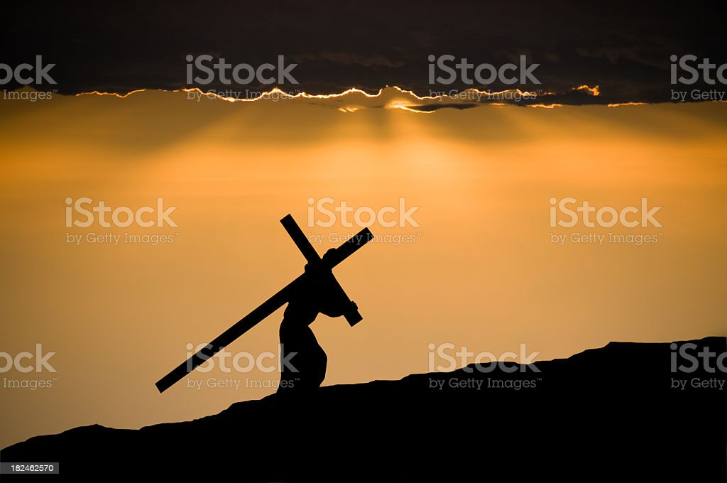 Jesus Christ Carrying the Cross stock photo