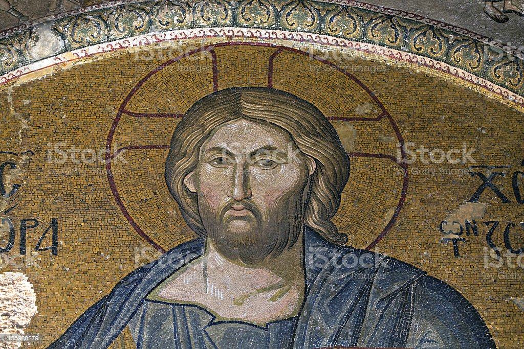 Jesus Christ, Chora Church, Istanbul, Turkey royalty-free stock photo