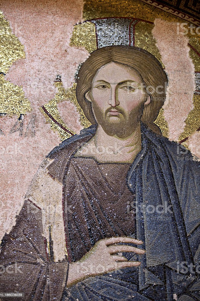 Jesus Christ, Chora Church, Istanbul, Turkey royalty-free stock photo