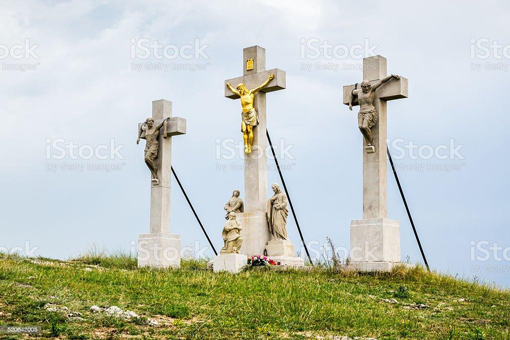 Jesus Christ Cross on Calvary stock photo