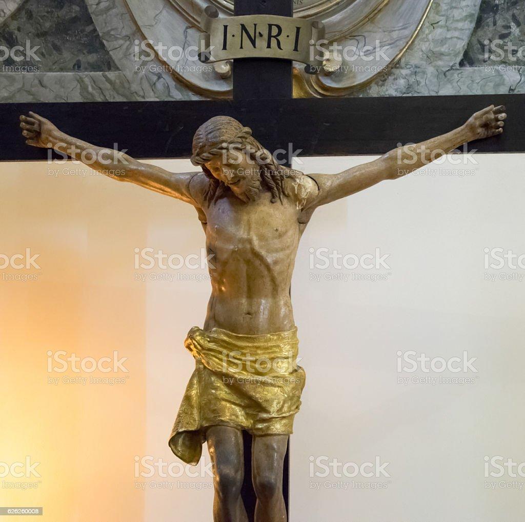 Jesus Christ crucified. stock photo