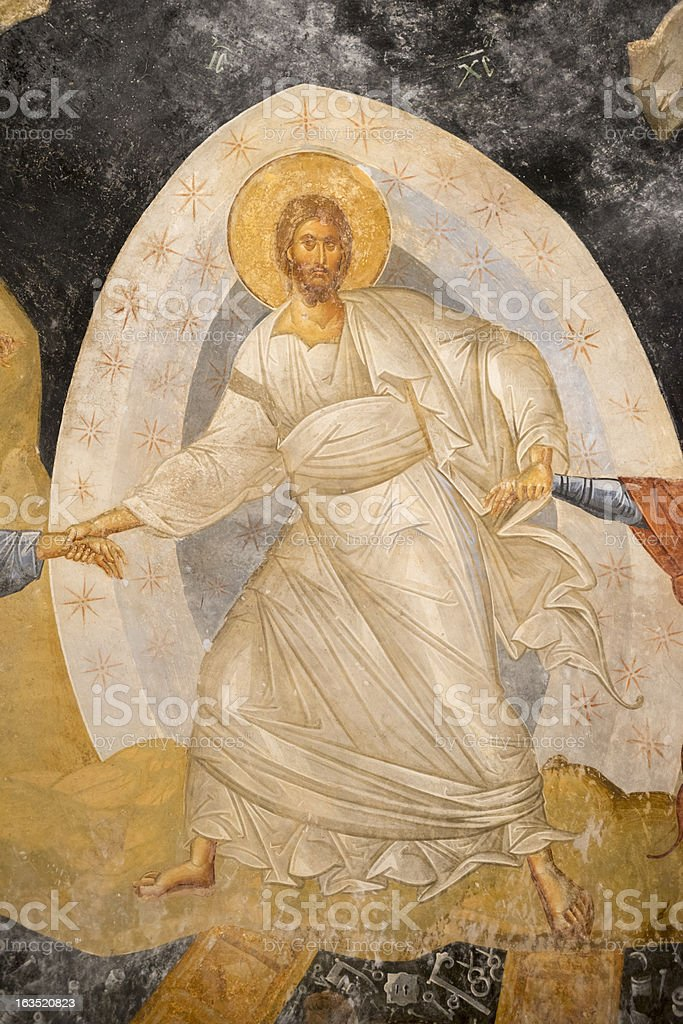 Jesus Christ fresco in Istanbul - Chora Church stock photo