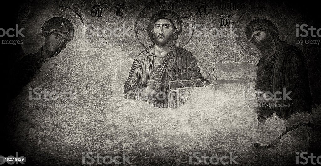 Jesus Christ in Aya Sophia (Haghia Sophiaa), Istanbul, Turkey stock photo