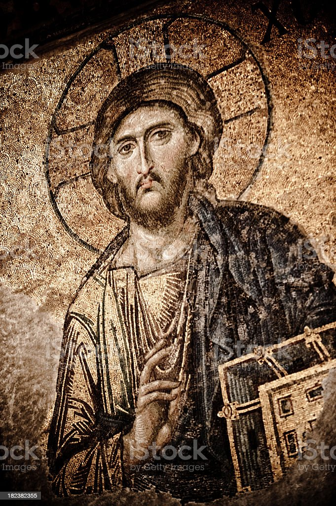 Jesus Christ in Hagia Sophia royalty-free stock photo