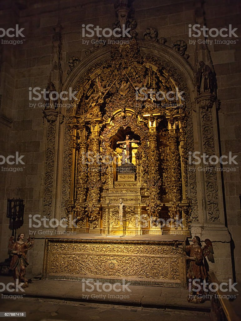 Jesus Christ in Salamanca Cathedral stock photo