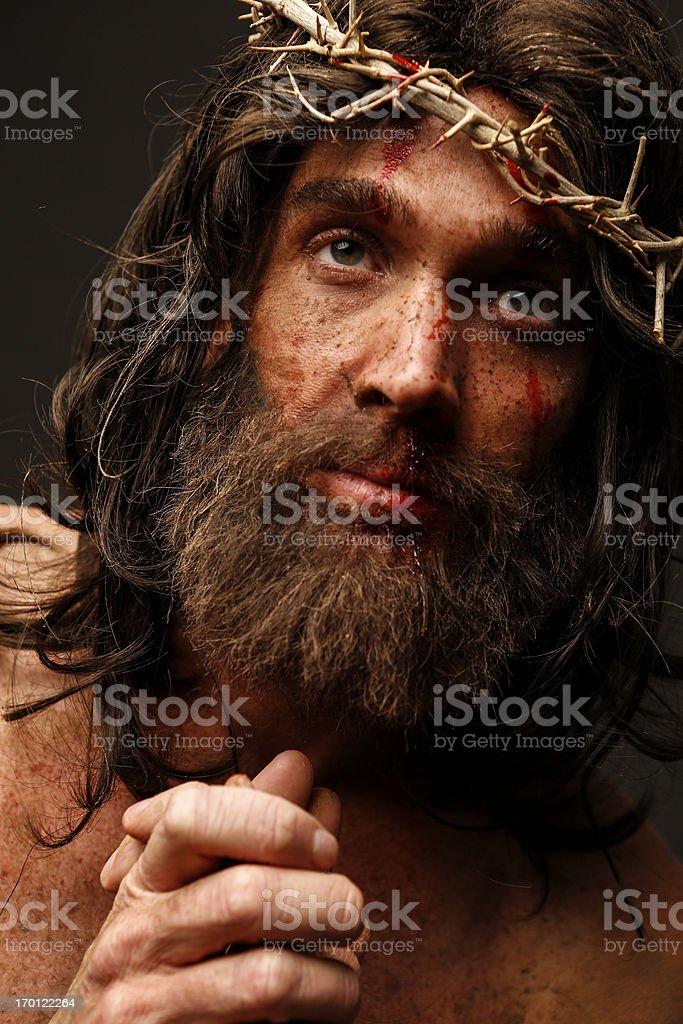 Jesus Christ looking at camera royalty-free stock photo