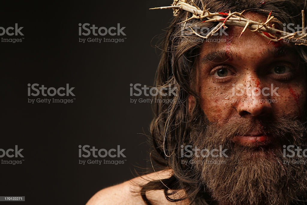 Jesus Christ looking at camera royalty-free stock photo