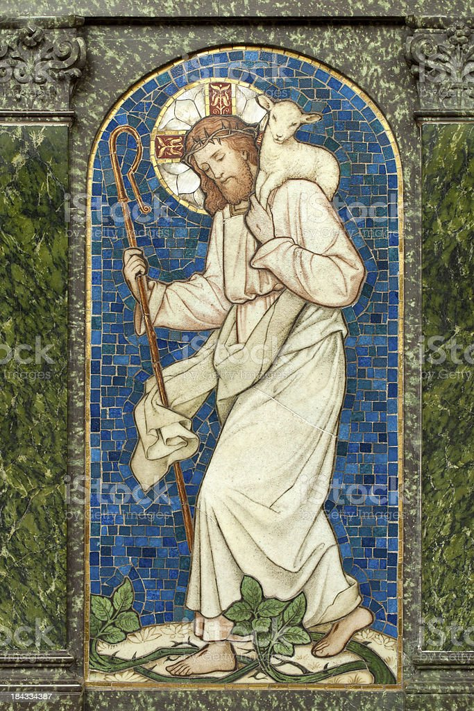 Jesus Christ Mosaic stock photo