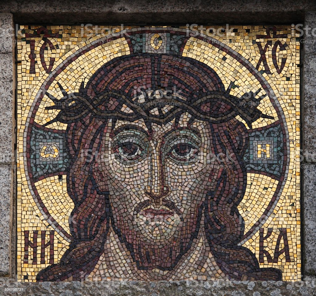 Jesus Christ mosaic. stock photo