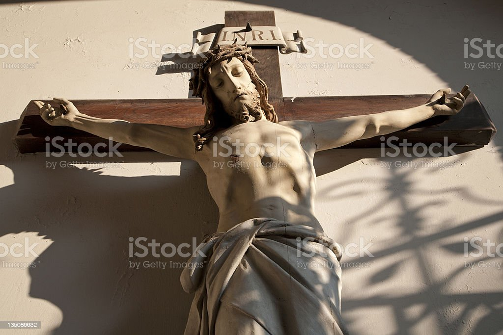 Jesus Christ on the cross royalty-free stock photo