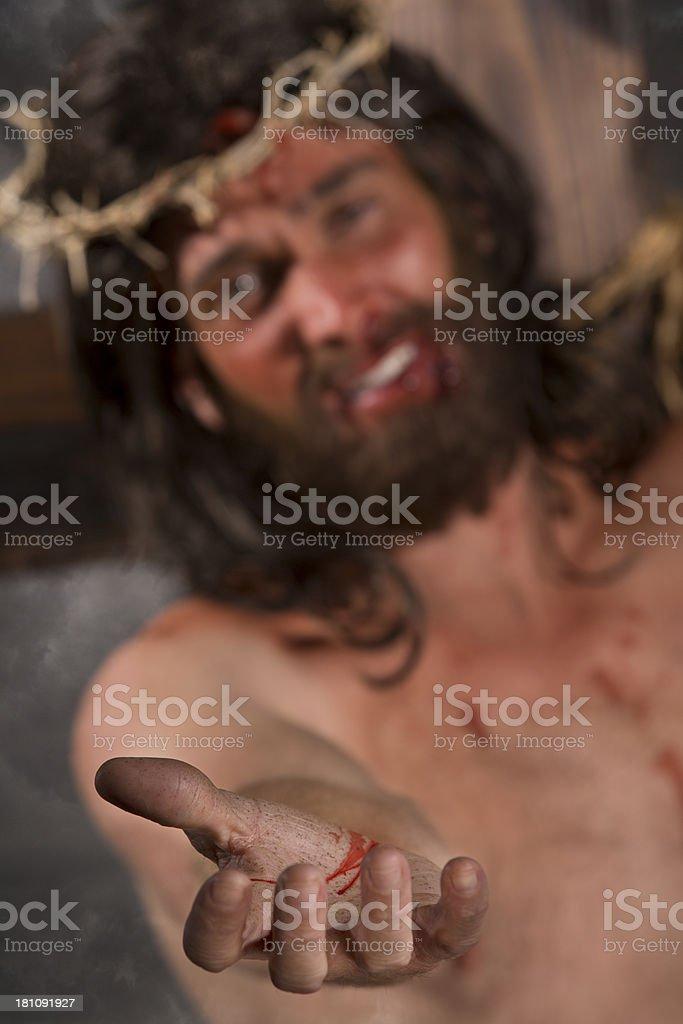 Jesus Christ on the cross stock photo