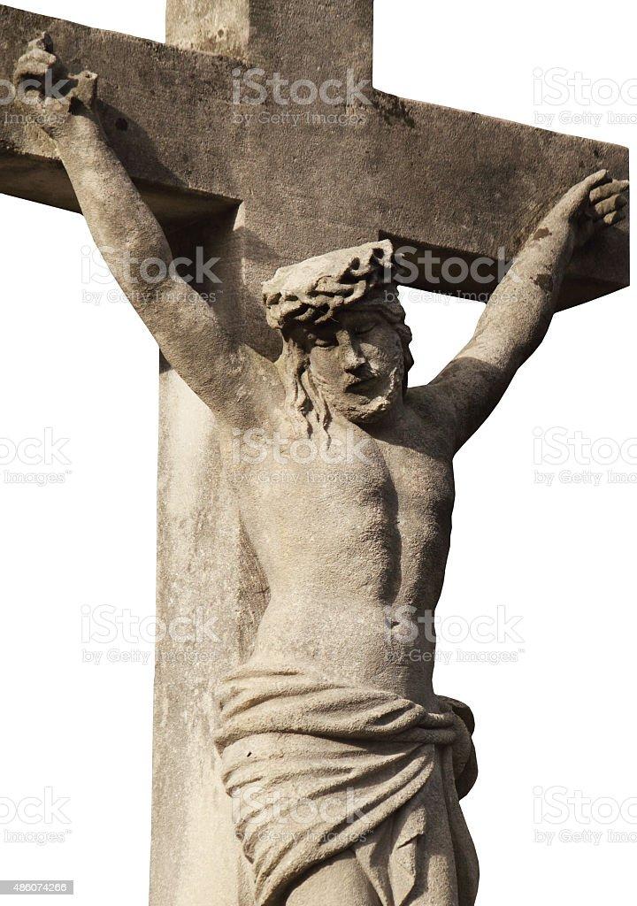 Jesus Christ on the white background stock photo