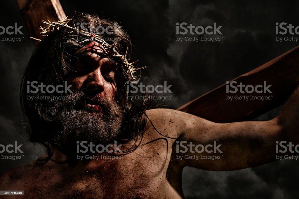 Jesus Christ Pointing stock photo