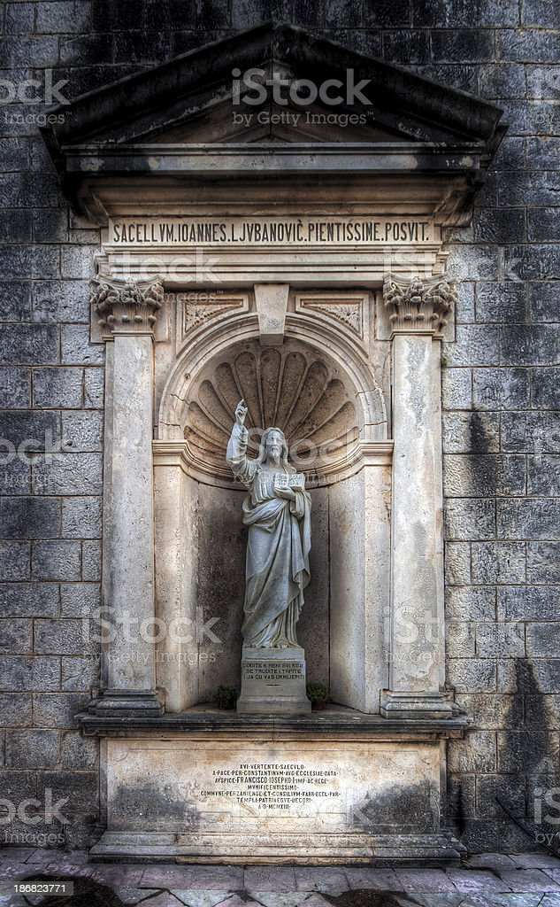 HDR Jesus Christ statue royalty-free stock photo