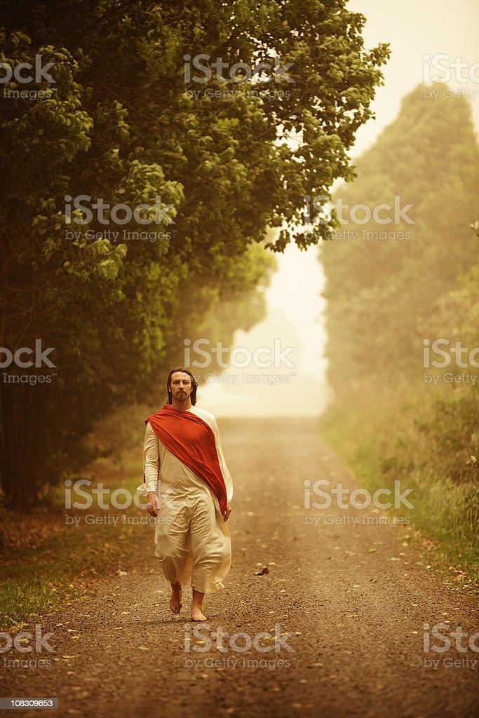 Jesus Christ Walking royalty-free stock photo