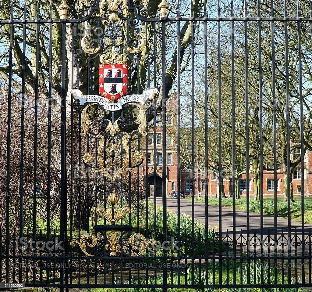 Jesus College, Cambridge, England stock photo