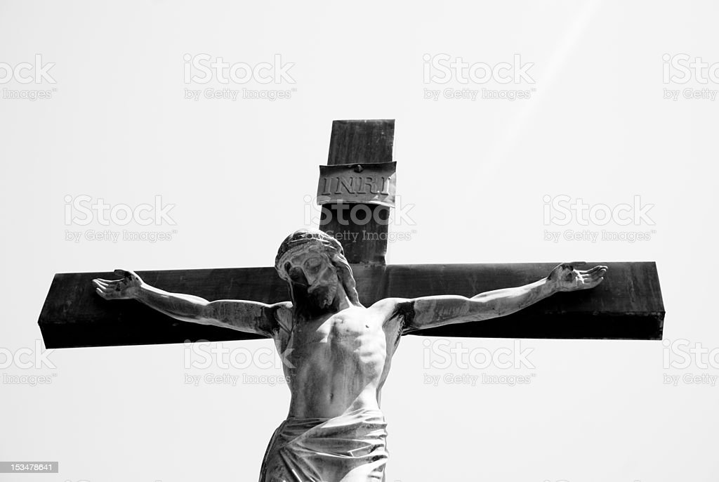 Jesus Crucified stock photo