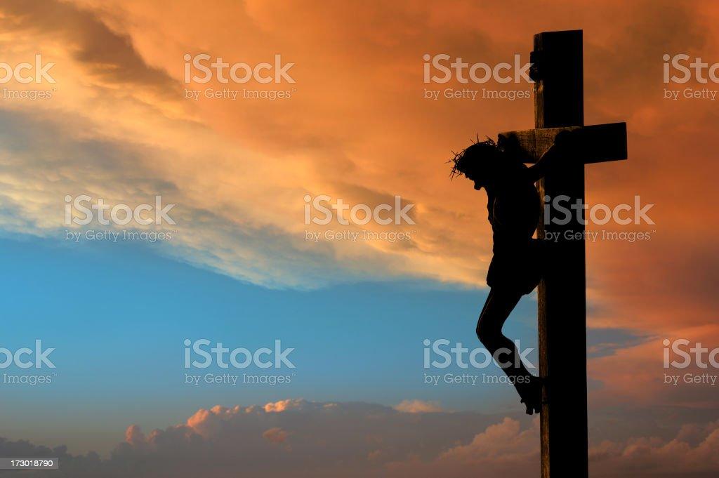 Jesus Crucifixion stock photo