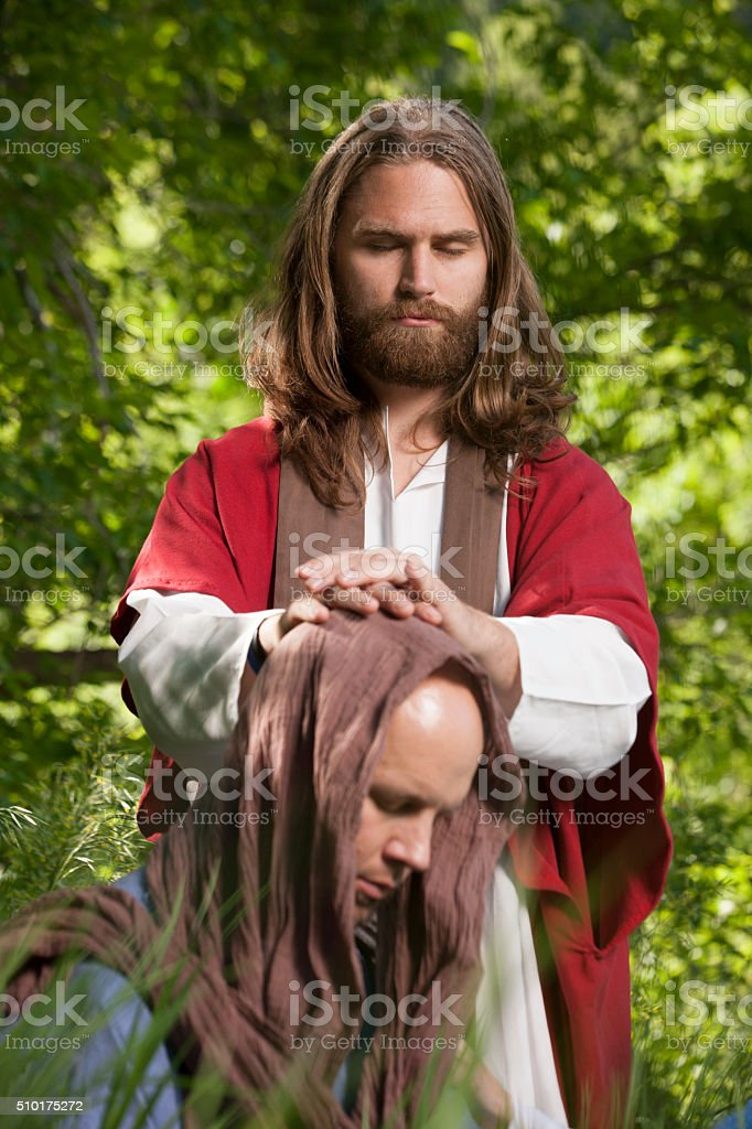 Jesus Giving Blessing stock photo