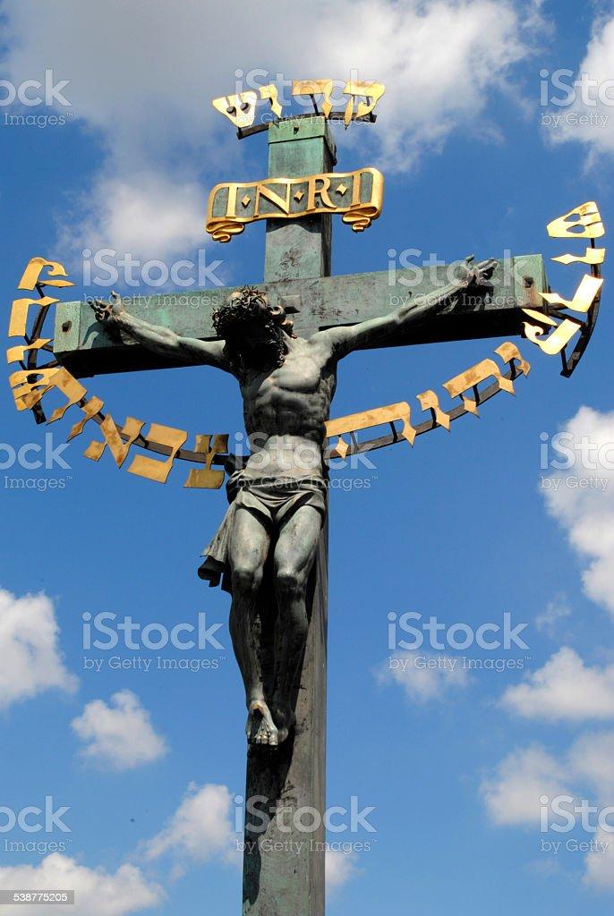 jesus in prague stock photo