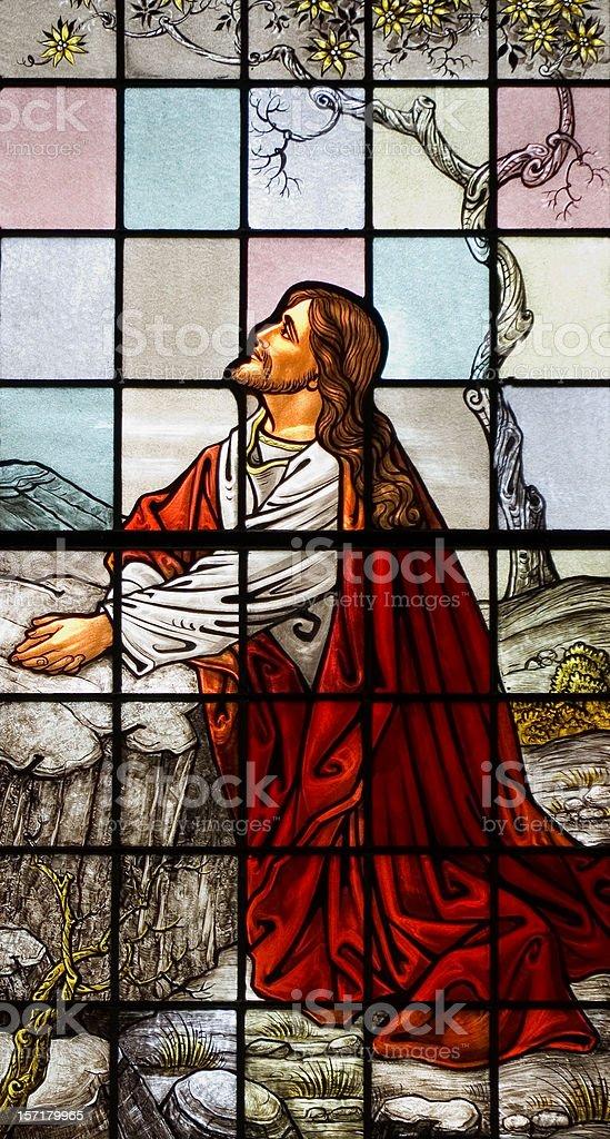 Jesus in the Garden stock photo